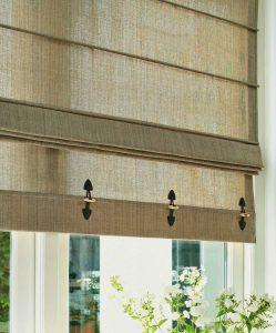 Римские шторы из льняной ткани