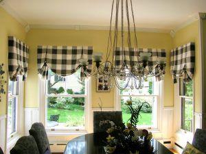 Английские шторы в кабинете