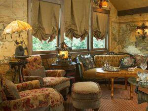 Английские шторы для классического интерьера