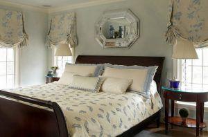 Английские шторы в спальне