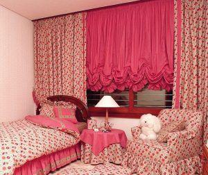 Австрийские шторы в детскую комнату
