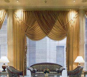 Итальянские шторы в кабинете