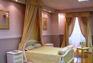 Итальянские шторы в спальню