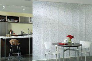 Японские шторы в интерьере кухни