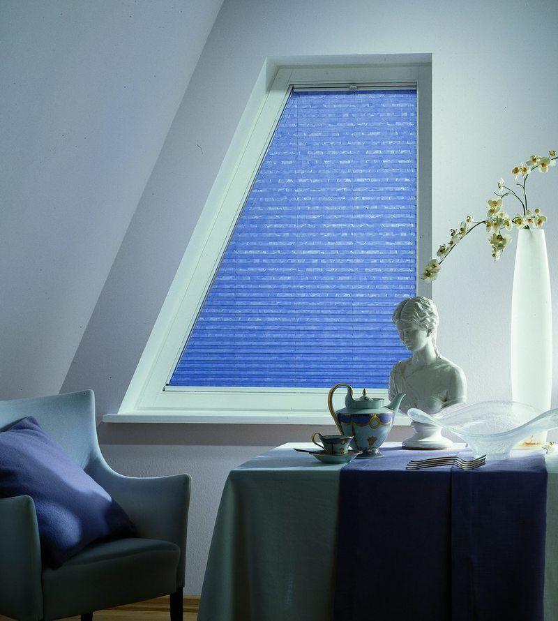 Жалюзи-плиссе на окно трапециевидной формы