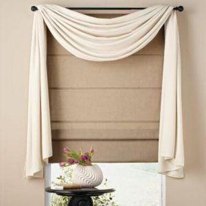 Римские шторы с декоративным элементом