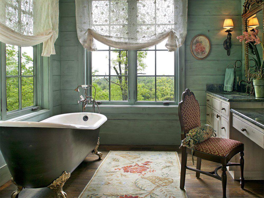 Английские шторы в ванную комнату