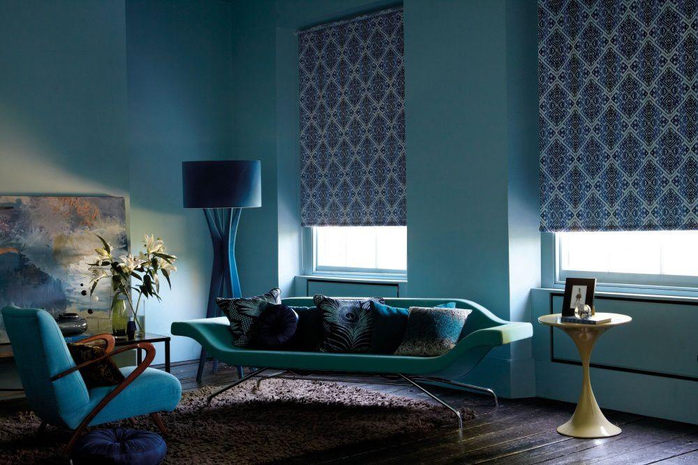 Цветные рулонные шторы блэкаут для спальни