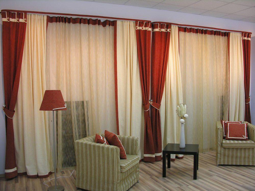 Декоративные портьеры в зал