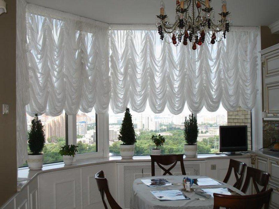 Французская штора-тюль в столовую