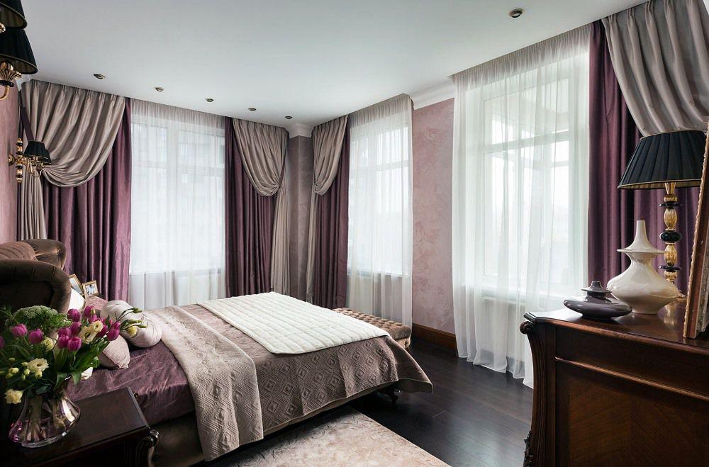 Красивые портьеры в спальню