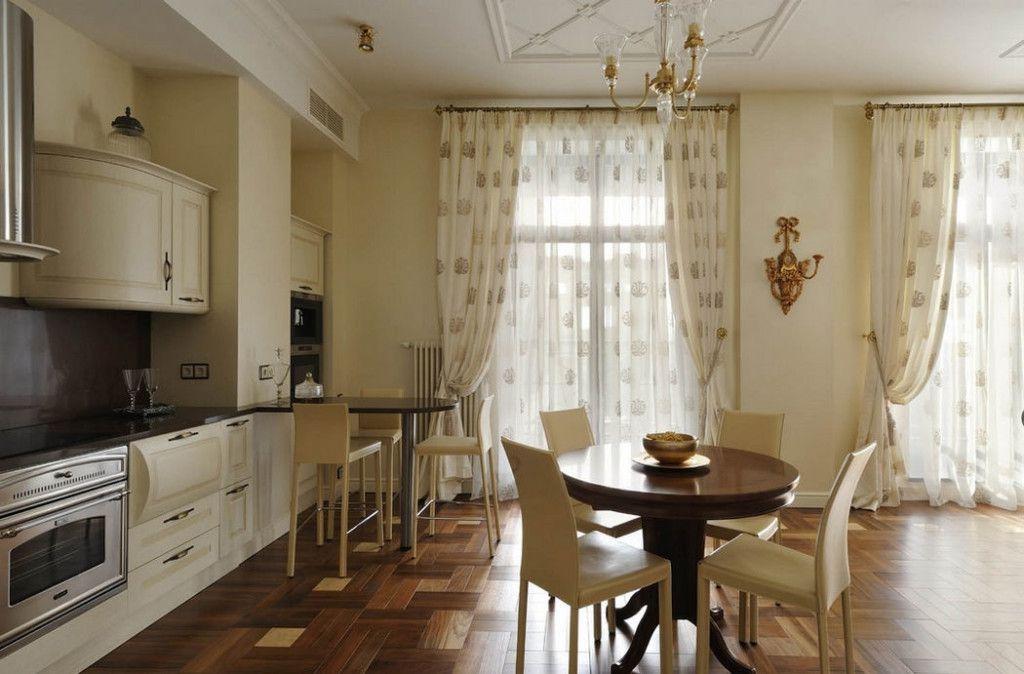 Шторы на кухню с панорамными окнами