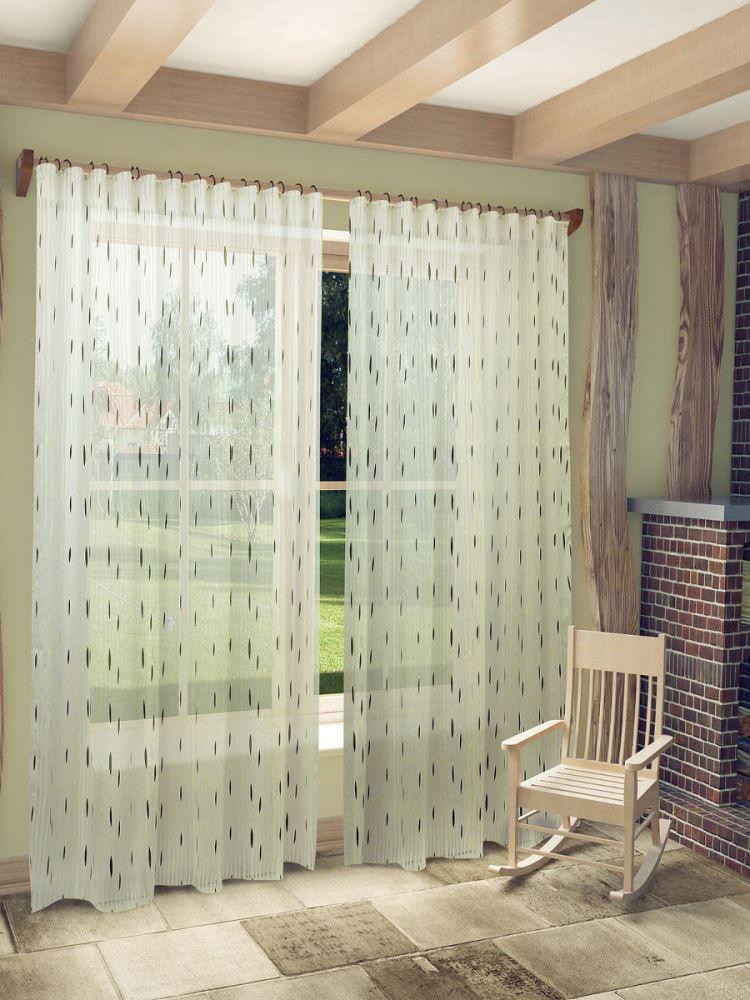 Тюль в интерьере частного дома