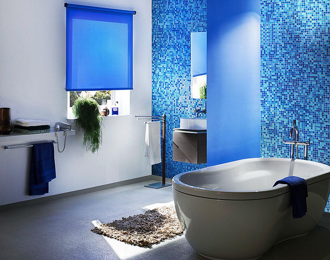 Рулонные шторы-жалюзи для ванной комнаты