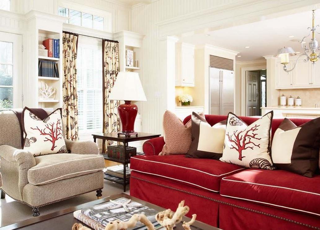 Декоративные подушки в интерьере гостиной