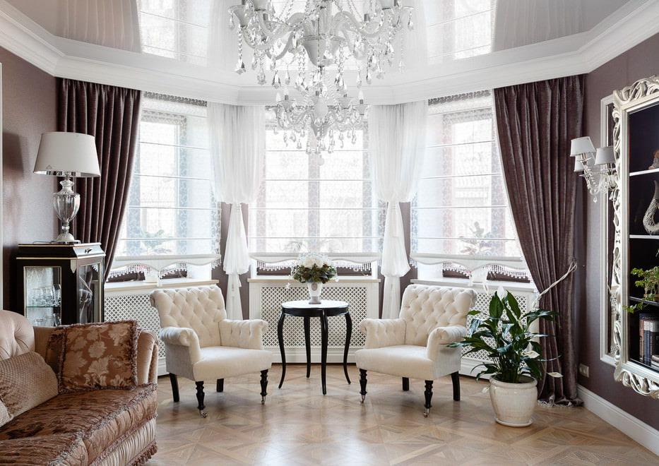 Шторы в классическом стиле в гостиную