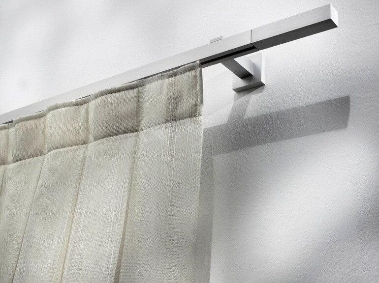 Настенный алюминиевый карниз для штор