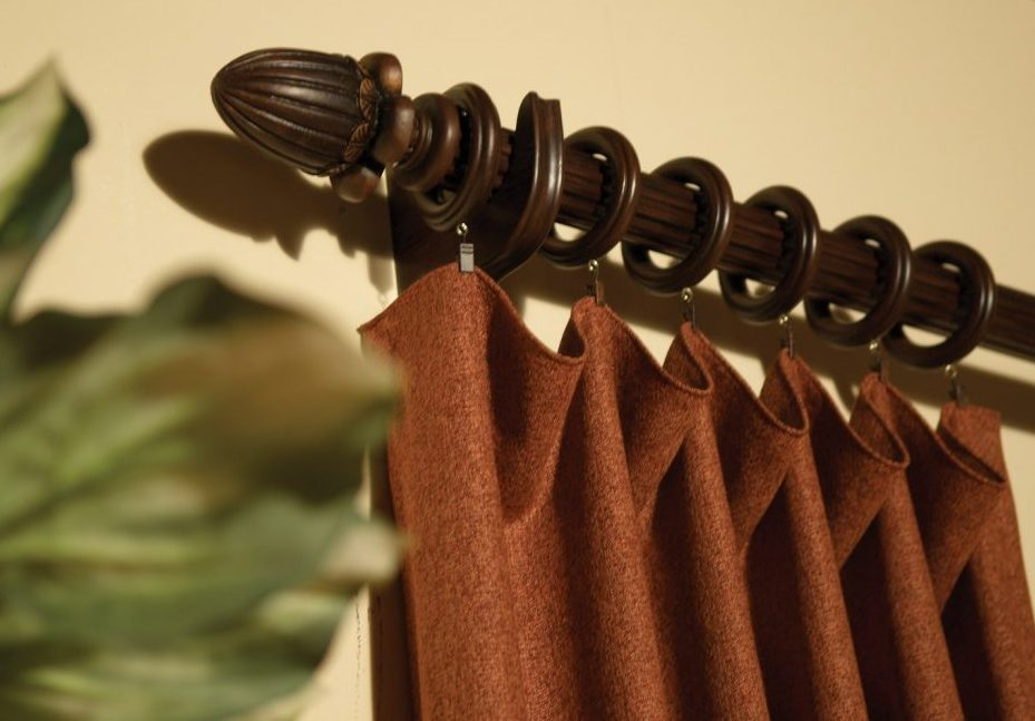 Кольца для штор деревянные на карниз